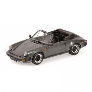 1:18 1983 Porsche 911 Carrera Cabrio - Grey Metallic