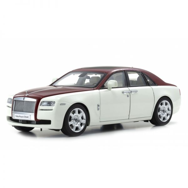 1:18 Rolls-Royce Ghost English - White/Red Metallic