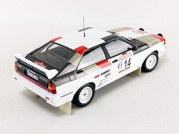 1:18 Audi Quattro - Mouton/Pons - Winners Rallye Sanremo 1981
