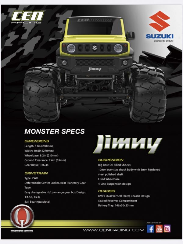CEN Q-Series Suzuki Jimny Yellow