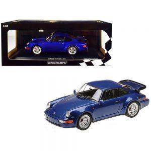 1:18 1990 Porsche 911 Turbo - Blue Metallic