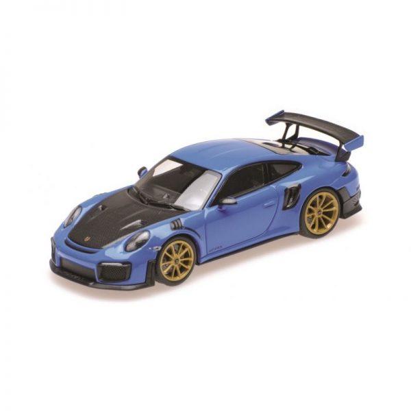 1:18 2018 Porsche 911 GT2 RS - Blue with Gold Wheels