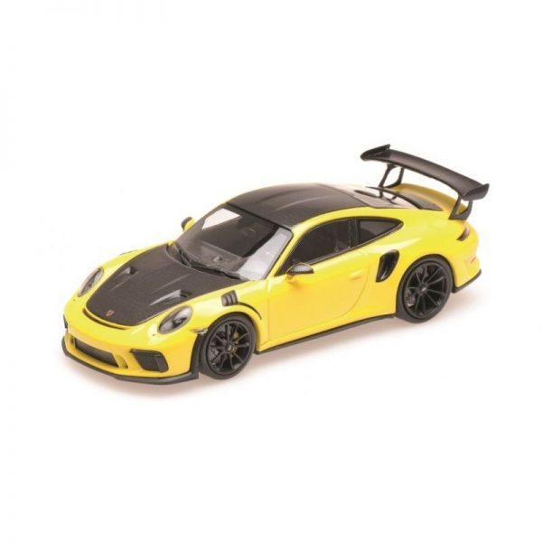 1:18 2019 Porsche 911 GT3RS - Yellow with Weissach Package and Platinum Wheels