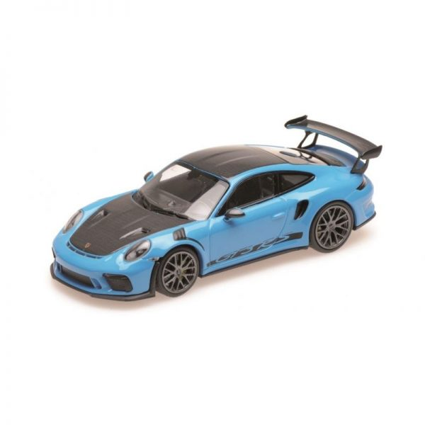 1:18 2019 Porsche 911 GT3 RS - Blue with Weissach Package and Gold Wheels