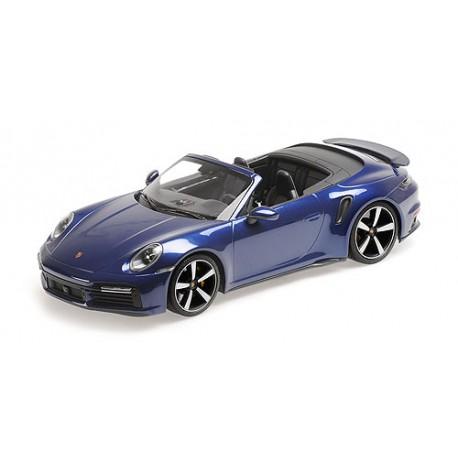 1:18 Porsche 911 (992)  Turbo S Cabriolet - 2020 - Blue Metallic