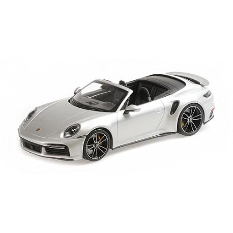 1:18 Porsche 911 (992)  Turbo S Cabriolet - 2020 - Silver